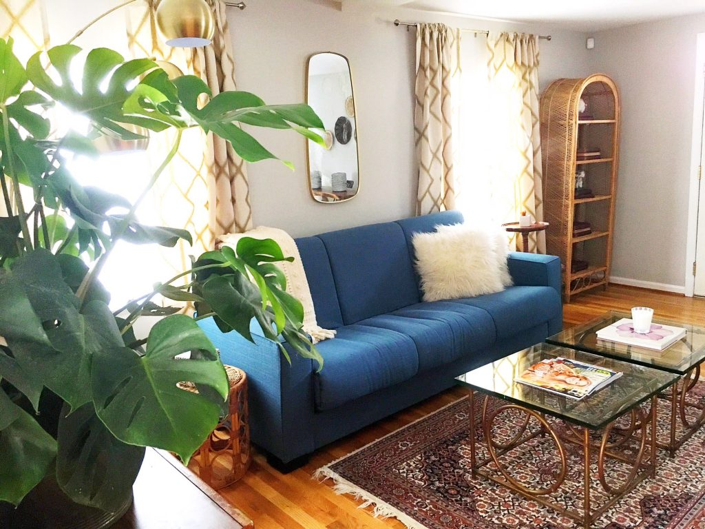 Airbnb design east Nashville living room