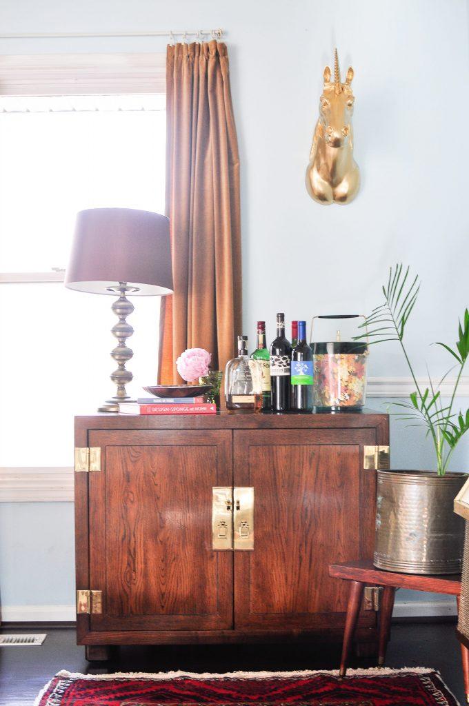 vintage bar Nashville home design
