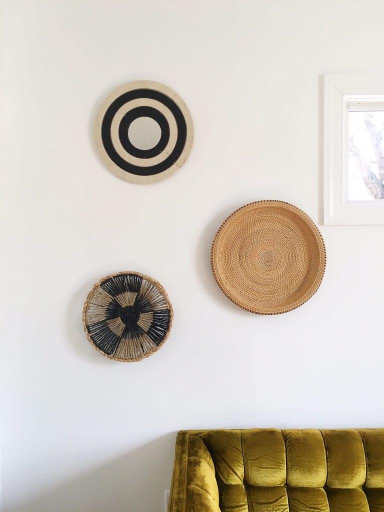 basket wall interior designer