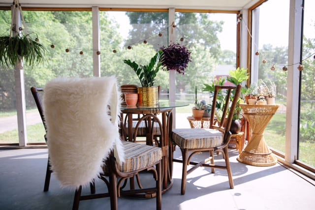 eclectic sun room Nashville interior design
