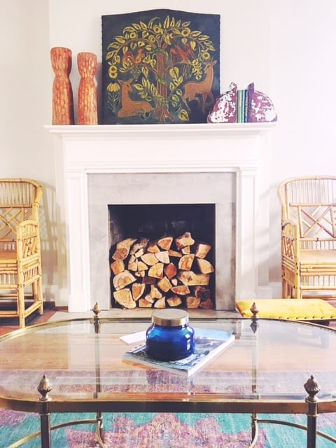 east Nashville home staging design fireplace