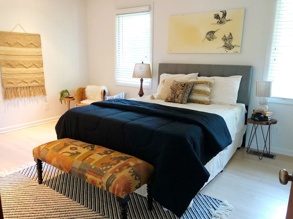 West Meade home stager bedroom