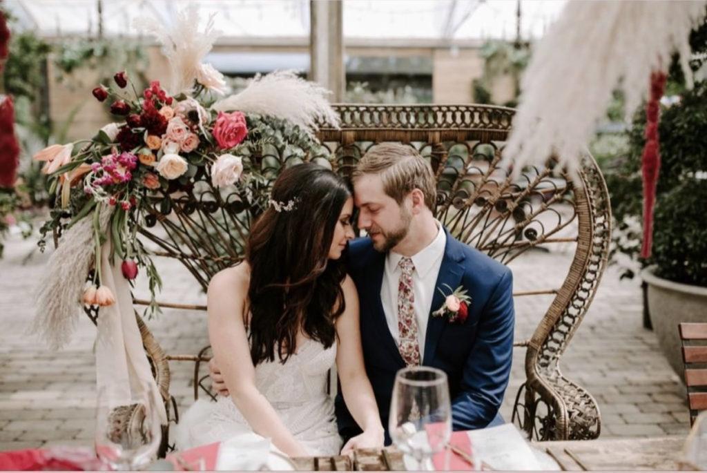 sweetheart table rental Long Hollow Gardens TN Wedding