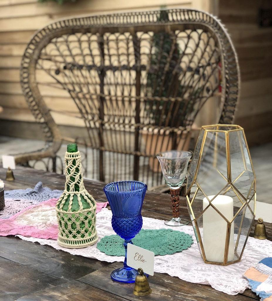 vintage glassware rental,glassware rental for parties